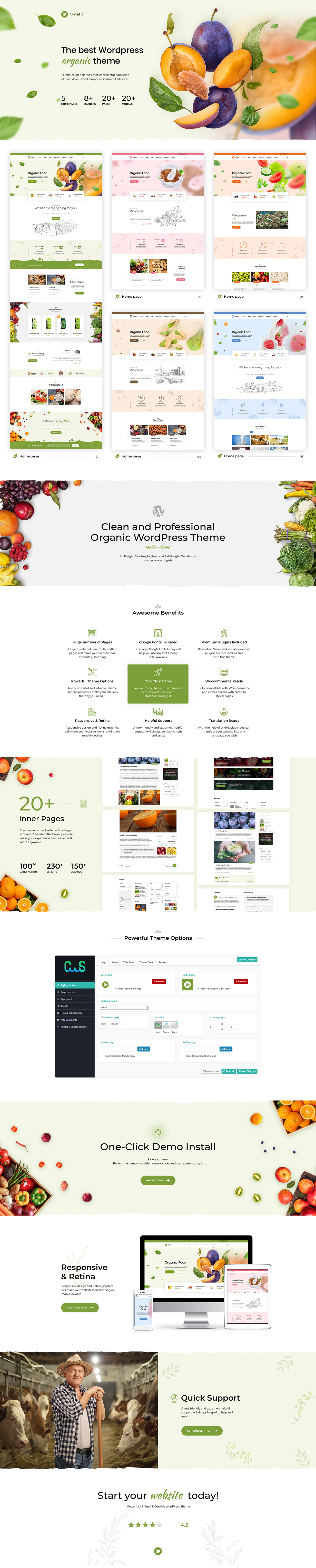 OrgaFit - Organic and Health WordPress Theme