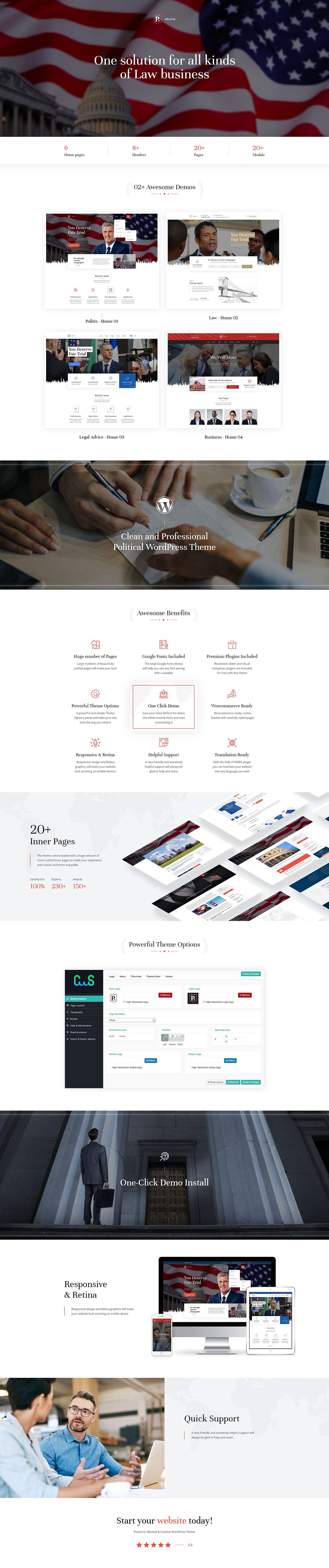 Politix - Political Campaign WordPress Theme
